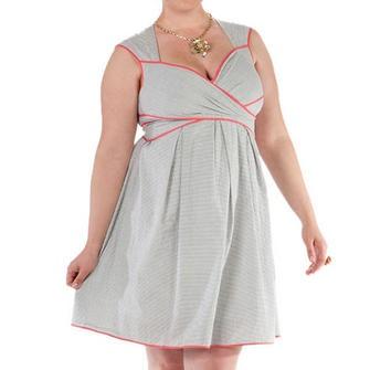 Plus Size Seersucker Dresses - Boutique Prom Dresses