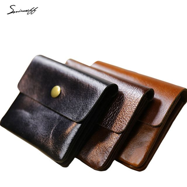 Special offer SMIRNOFF 2017 New Hasp Short Purse Bag Paragraph Genuine Leather Wallet Credit Card Holder Retro Buckle Purse Coin Mini Wallet just only $10.76 with free shipping worldwide  #womanwallets Plese click on picture to see our special price for you
