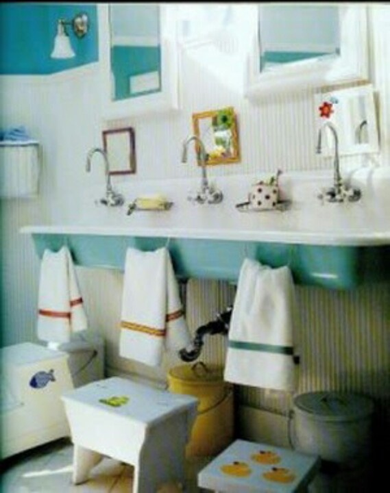 Jack n jill bathroom parker evan color scheme match for Kids bathroom ideas for boys