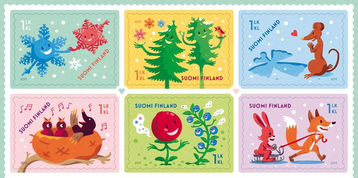 Valentine's Day 2015 postage stamp design and illustrations by Ilja Karsikas, Finnish Post, 2015