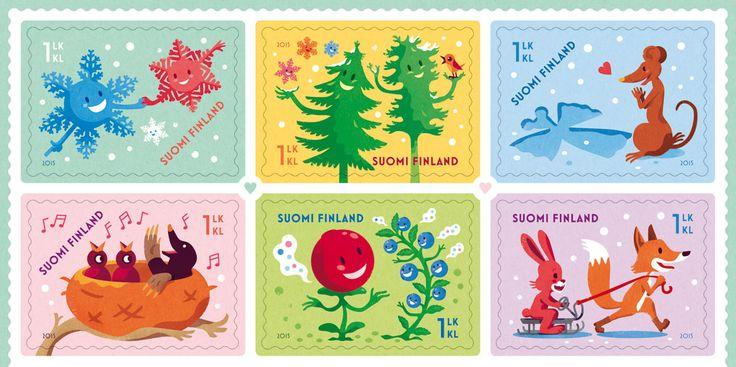 Valentine's Day 2015 postage stamp design and illustrations by Ilja Karsikas, Finnish Post, 2015