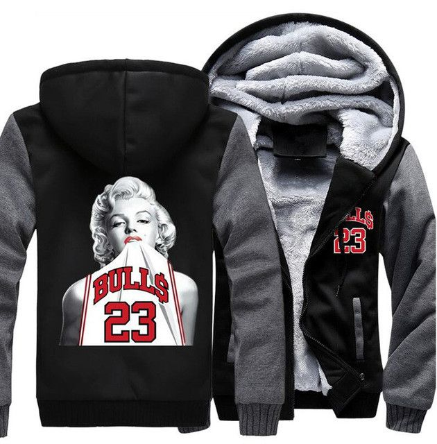 Chicago Bulls Marilyn Monroe No. 23 Hoodie Jacket
