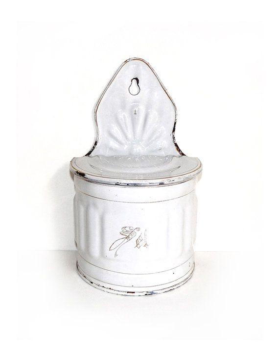 French Enamelware Salt Box  French Kitchen by FrenchVintageShop, €38.00