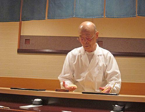 Jiro Ono's Sukiyabashi in Ginza Japan