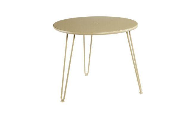 """Table 3 pieds pliants """"Filaciel""""  coloris tilleul  plusieurs tailles disponibles"""