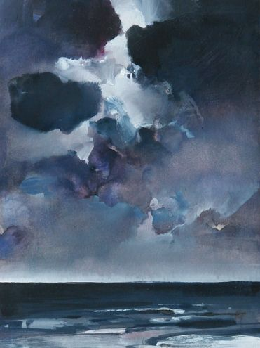 Over the Sea 19, nocturne, painting by artist Randall David Tipton