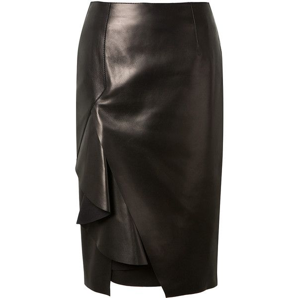 Wrap Around Leather Skirt - Dress Ala