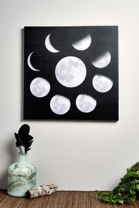 Moon Phases Canvas Art https://noahxnw.tumblr.com/post/160711524941/hairstyle-ideas