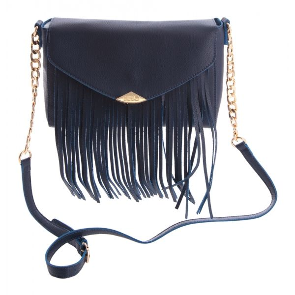 Blauwe handtas met franjes liu jo online bij Deleye.be & BeKult