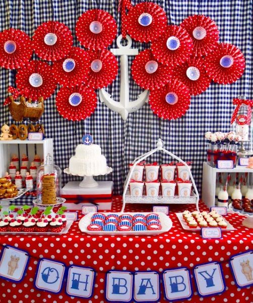 Baby Shower Ideas U0026 Decoration   Baby Shower Theme Sailor