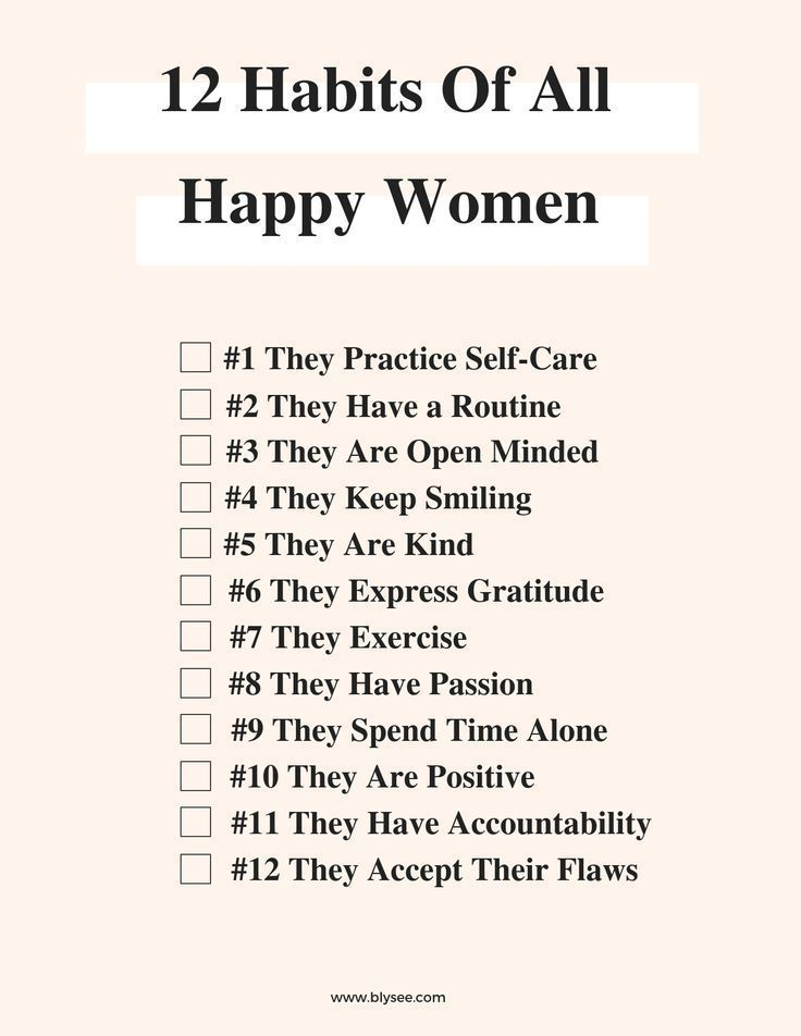 12 Habits of All Happy Women – #affirmations #Habi…