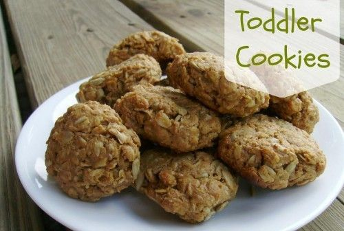 Toddler Cookies: An easy, healthy snack for anybody! Only three ingredients. Via frugafarmwife.com #healthytotsnacks