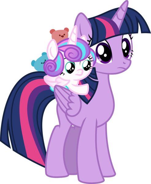 #1419952 - absurd res, a flurry of emotions, artist:deyrasd, baby, baby pony, ear nibble, pony, princess flurry heart, safe, simple background, spoiler:s07e03, teddy bear, toy, transparent background, twilight sparkle, vector - Derpibooru - My Little Pony: Friendship is Magic Imageboard
