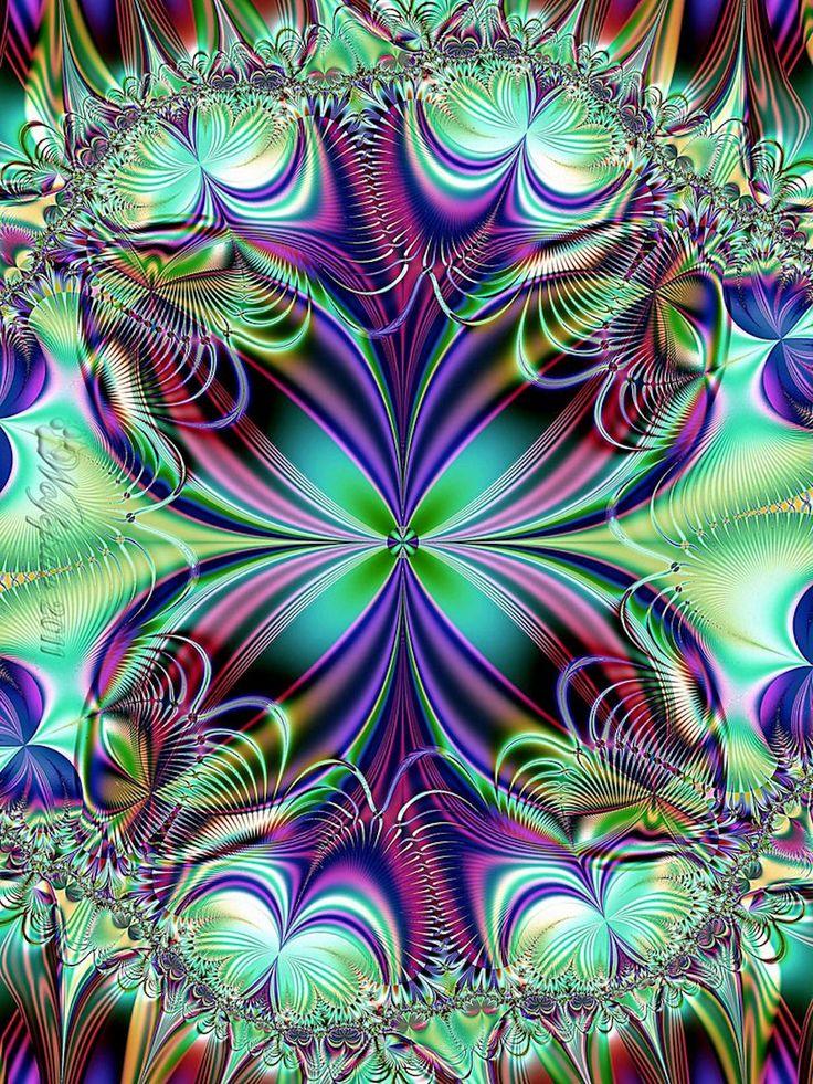 peacock colors fractal art