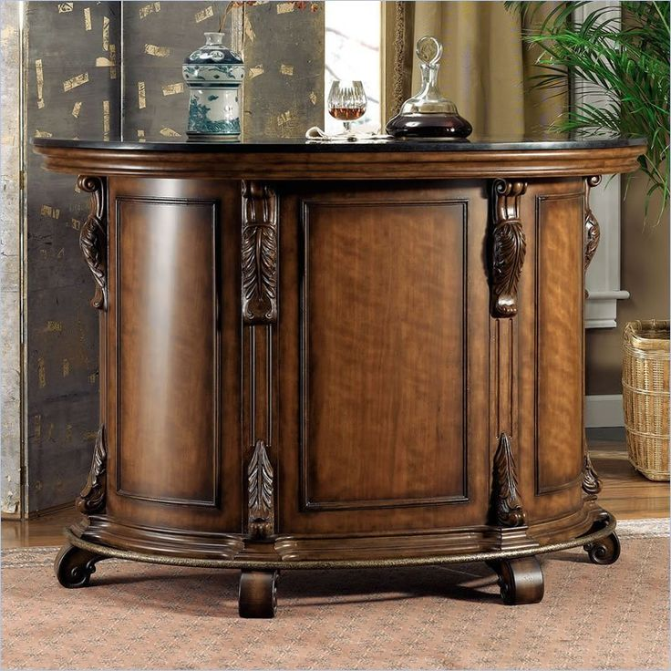 Traditional Home Bar Designs: Powell Furniture Bourbon Street Yorktown Cherry Home Bar