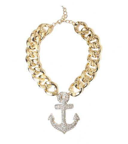 Oversized Anchor Chain Statement Necklace | Fashion Necklace | HOTTT.COM