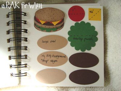 Tutorials To Share: Creative Art Punch Book 2 all beef patties, special sauce, lettuce, cheese, pickles, onions all on a sesame seed bun! :)