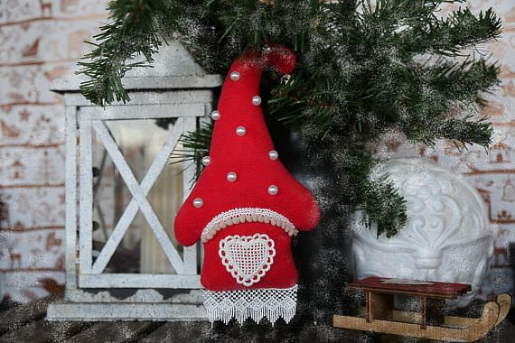 Home Xmas or New Year decoration. Gift for the New Year or for