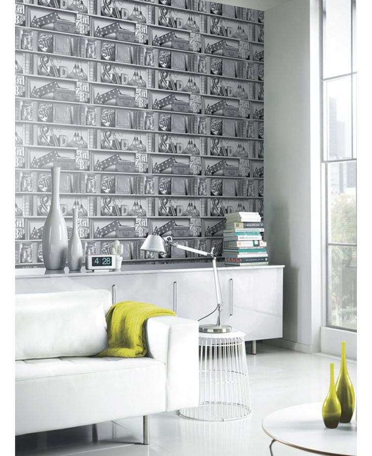 This Quirky Upcycle Wallpaper Will Add A Fun And Contemporary Feel To Your Home The