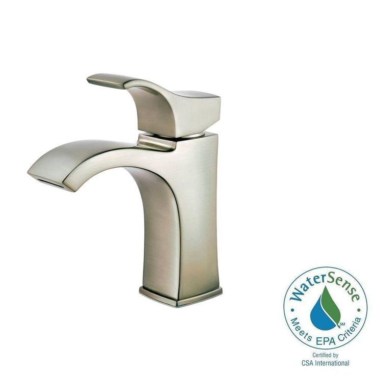 Pfister Venturi Single-Hole Single-Handle Bathroom Faucet in Brushed Nickel-F-042-VNKK - The Home Depot