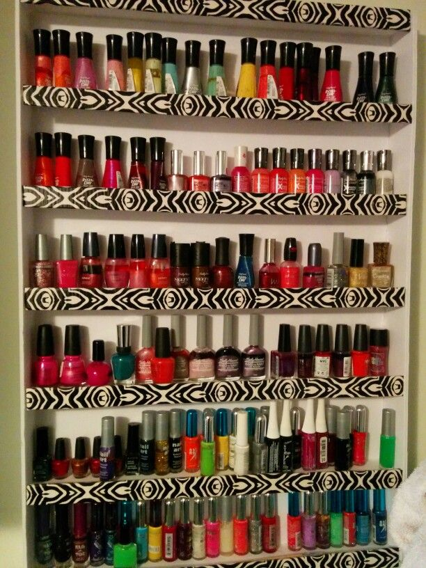Home made nail polish holder
