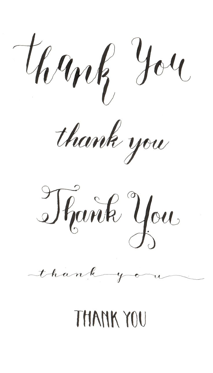 My Calligraphy with dip pen and ink. 5 different ways to write thank you.