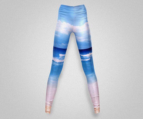 Nature Print Leggings/yoga Pants By AsianCraftShop On Etsy