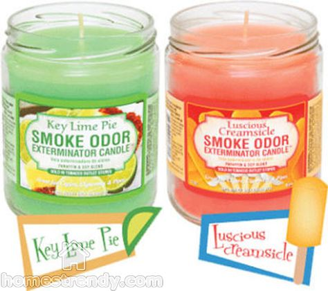 Apart from absorbing smoke, candles also help create a friendly ambience, so let them be out there. Another trick is to pour vinegar in small bowls and place them all over the smoking room. Even if you don't like the smell of vinegar, just suck it up until you are rid of the cigarette smoke.