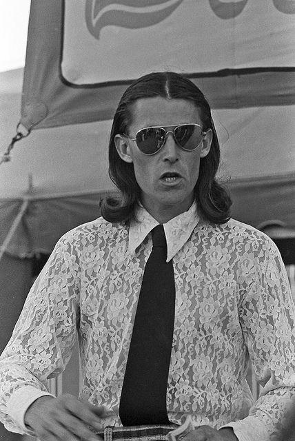 Lace shirt & shades - 1973