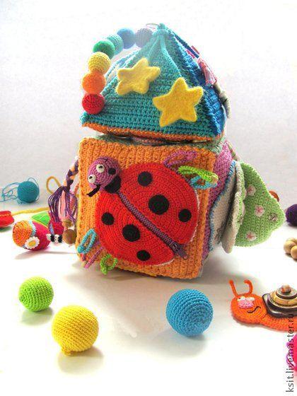 Развивающие игрушки ручной работы. Ярмарка Мастеров - ручная работа Развивающий кубик Домик.кубик-конструктор. Handmade.