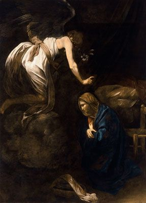 Michelangelo Caravaggio, The Annunciation Fine Art Reproduction Oil Painting