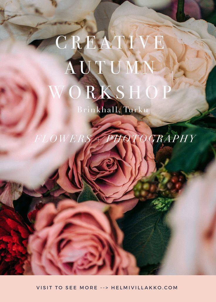 Creatie Autumn Flower & Photography Workshop with Helmivillakko Floral Design and Petra Veikkola Photography
