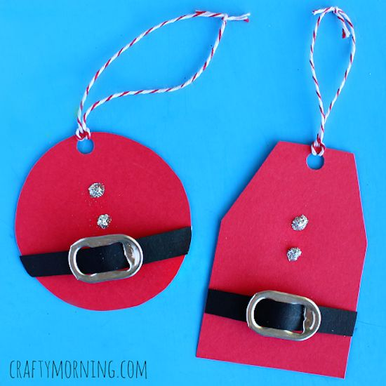 DIY Santa gift tabs made with pop tabs - so cute!