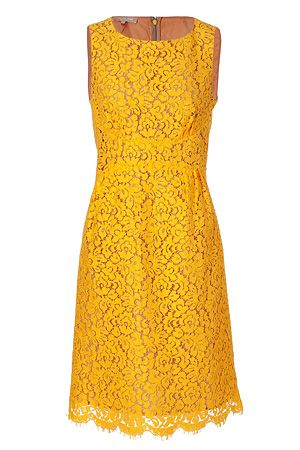 Beautiful yellow dress - MK Love this! The color is delicious! Wish I could pull off this cut =/