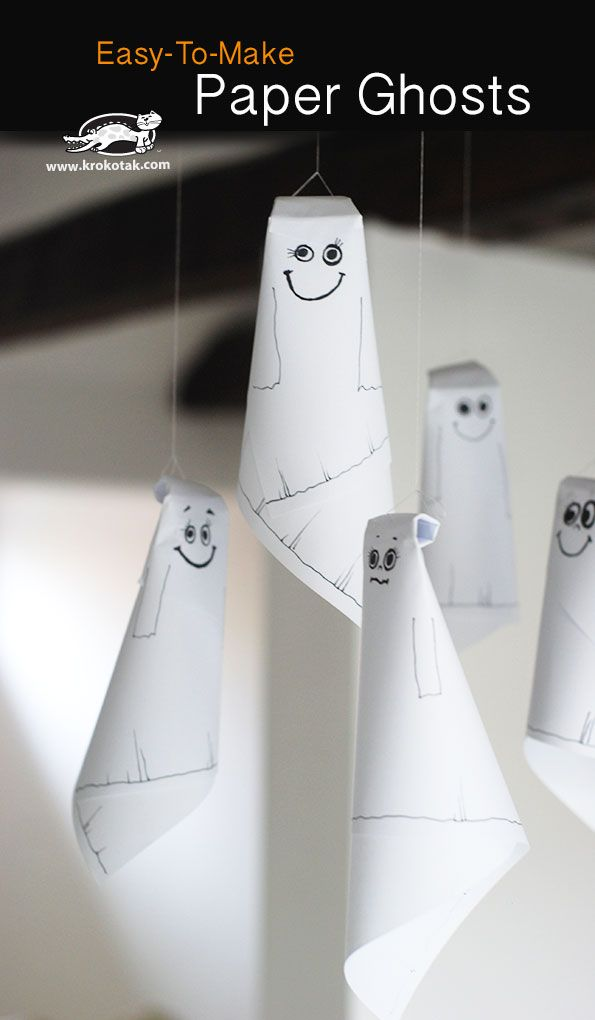 Easy-To-Make Paper Ghosts
