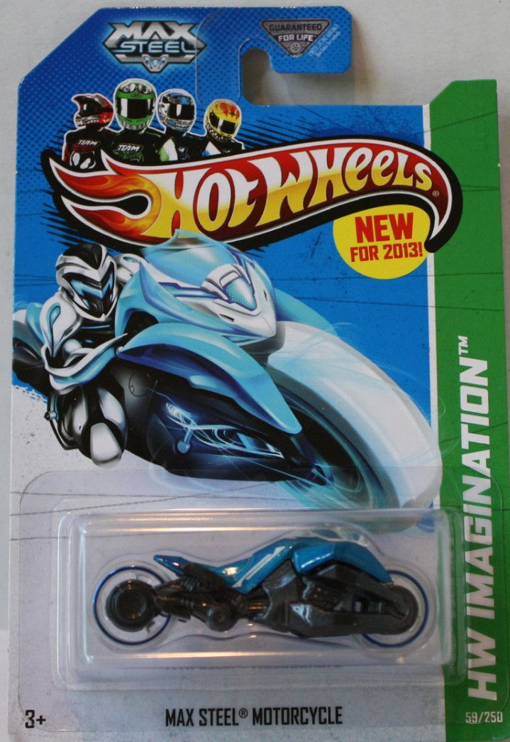 (TAS021325) - 2013 Hot Wheels Max Steel Motorcycle Blue