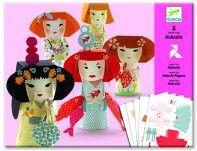 Kokeshi Folding Paper Toys