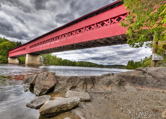 Roof Over My Head. The covered bridge in Wakefield, Quebec. Photo by Alain Villeneuve.