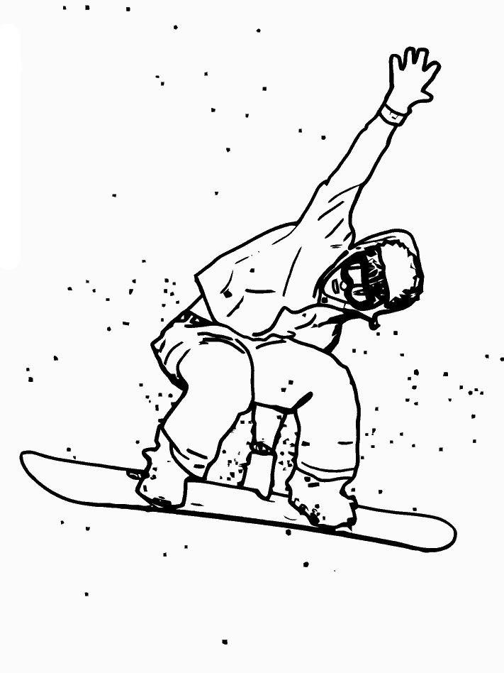 Omalovánky zimní sporty | i-creative.cz - Inspirace, návody a nápady pro rodiče, učitele a pro všechny, kteří rádi tvoří.