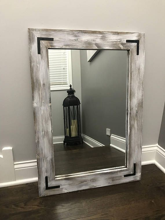 Whitewash Mirror Wood Framed Mirror Rustic Wood Mirror Bathroom Mirror Whitewashed Wall Mirror Vanity Mirror Small Large Mirror Gift Wood Framed Mirror Wood Mirror Bathroom Mirror Frame Diy