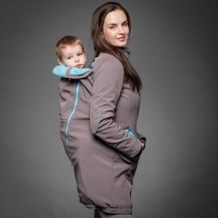 "Liliputi Mama Coat ""Grey-Turquoise""  http://www.liliputibabycarriers.com/babywearing-mama-coat/mama-coat-grey-turquoise"