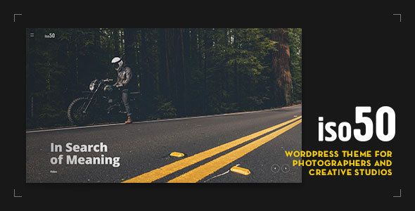 Iso50 - Photography WordPress Theme - Photography Creative