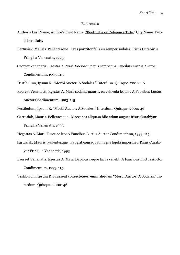 De 25+ bedste idéer inden for Apa format template på Pinterest - executive summary template for report
