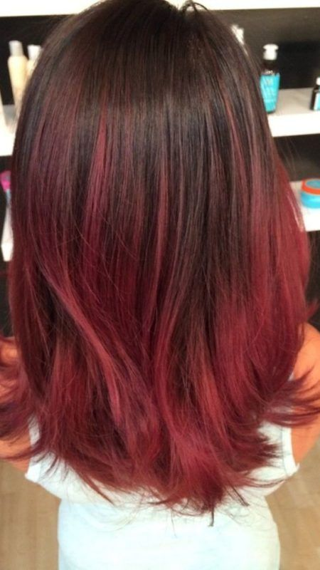 Red Brown Ombre 450x800