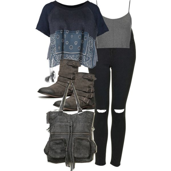 """""""Malia Inspired Outfit with Black Ripped Jeans"""" by veterization on Polyvore"""