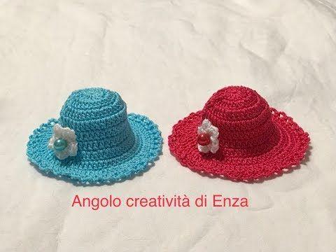 Cappellino Bomboniera Alluncinetto Facilecrochet Hatsombrero De