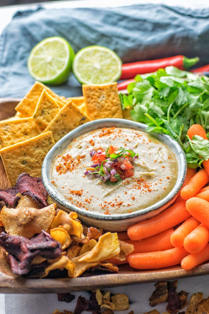 Mexican Cheese Dip | #vegan #glutenfree 1 cup cashews (soaked in hot water for 15 minutes) 1 1/4 (300 ml) cups organic vegetable broth 1 Tbs tahini sesame paste