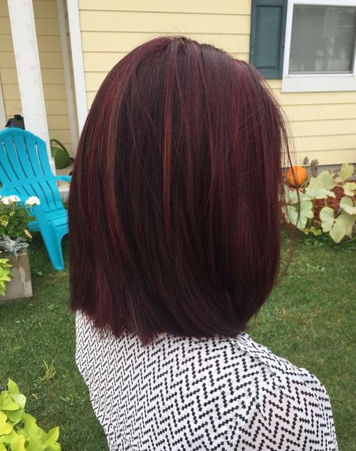 Winter fiery mahogany red hair color                                                                                                                                                     More