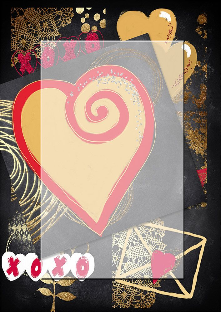 Handrawn png valentine  images 3...Chalk gold and red background images. plus gift by Lilymelba on Etsy