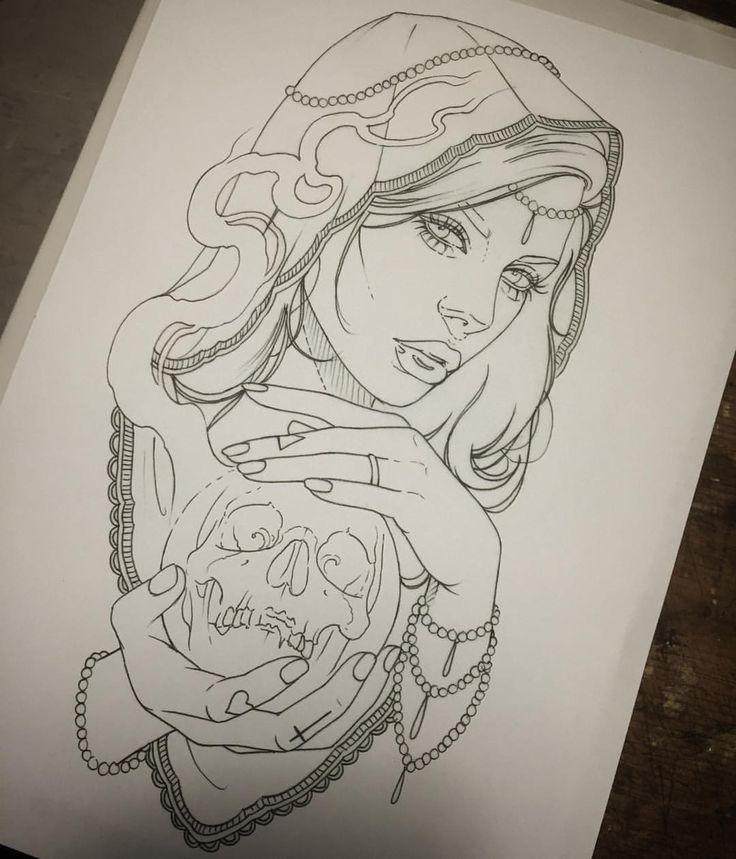 Sketch Tattoo Ideas Pinterest: Best 25+ Gypsy Drawing Ideas On Pinterest